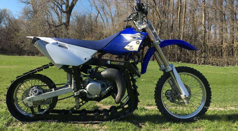 Hootbikes yz85 track conversion kit for all season use for Yamaha yz85 top speed