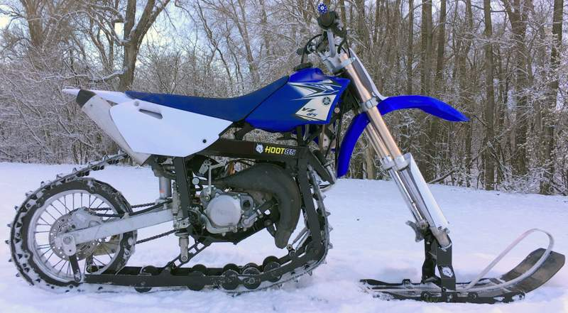 Hootbikes Yz85 Track Conversion Kit For All Season Use Snow Bike